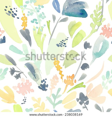 Seamless pattern watercolor flowers, paper, textile, fabric, wrapper, wallpaper,vector - stock vector