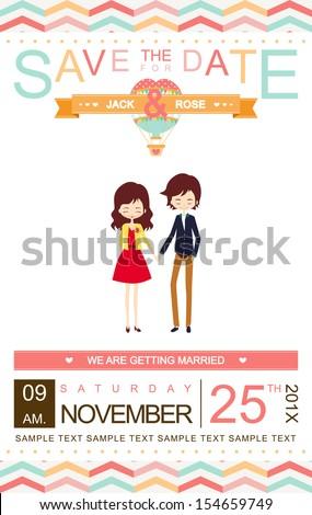 Seamless pattern. Wedding invitation card. Vector/ illustration - stock vector