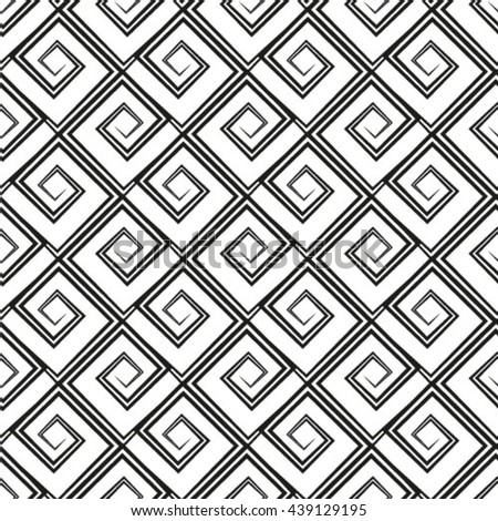 Seamless pattern white background. Retro old wallpaper with repetition geometric shape. - stock vector
