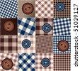 Seamless pattern. Will tile endlessly. Illustrator 8 eps vector in CMYK. - stock vector