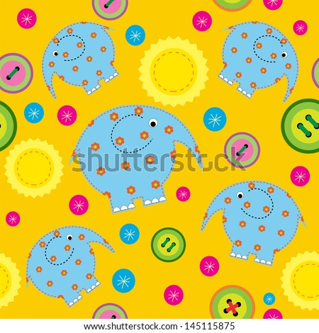 Seamless pattern with a children's applications  - stock vector