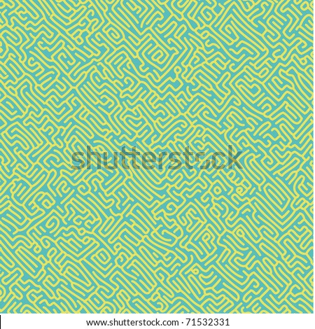 Seamless pattern with a labyrinth look like ant tunnels. Select all the art and drop it into your swatches palette to create an Adobe Illustrator pattern. - stock vector