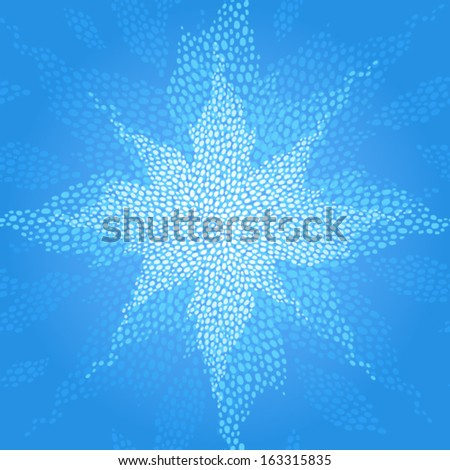 Seamless pattern with a shining star. Abstract vector drops background. Lace pattern design. It can be used for wallpaper, pattern fills, web page background, surface textures. - stock vector