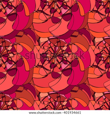 Seamless pattern with abstract broken stained glass - stock vector