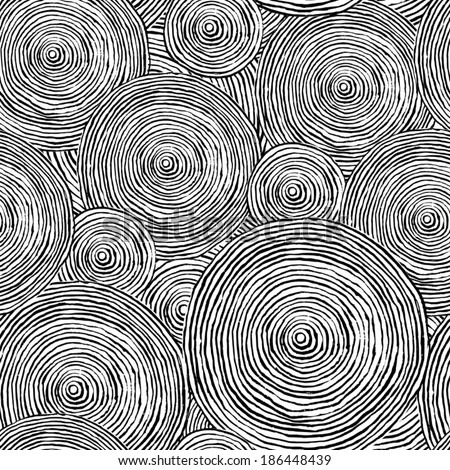 seamless pattern with abstract circles - stock vector