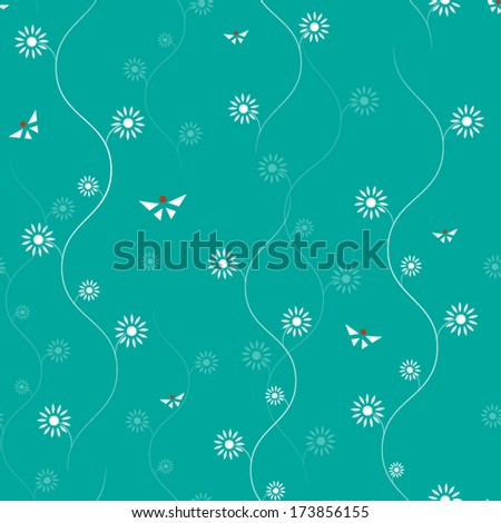 Seamless pattern with abstract flowers.Floral