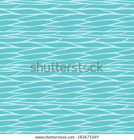 Seamless pattern with abstract geometric waves ornament. Vector illustration - stock vector