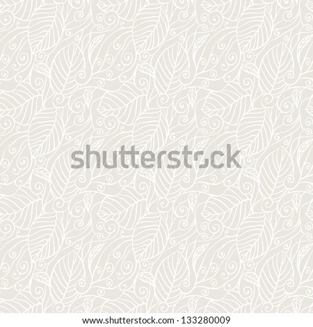 Seamless pattern with abstract leaves. EPS8. - stock vector