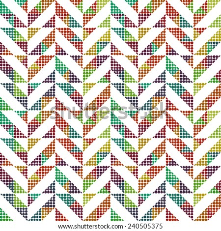 Seamless pattern with abstract ornament - stock vector