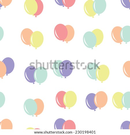 Seamless pattern with air balloon  for gift wrapping. Vector, EPS 10 - stock vector