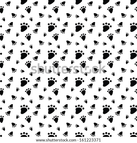 Seamless pattern with animal footprint. Vector illustration