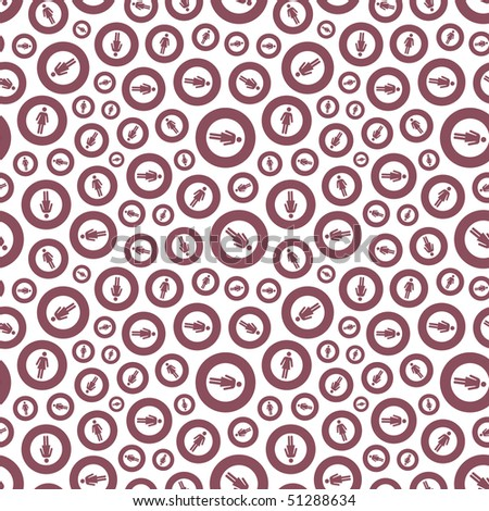 Seamless pattern with arrow signs - stock vector