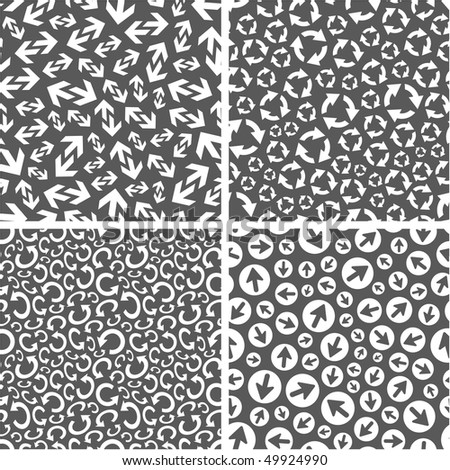 Seamless pattern with arrow signs. Great collection. - stock vector