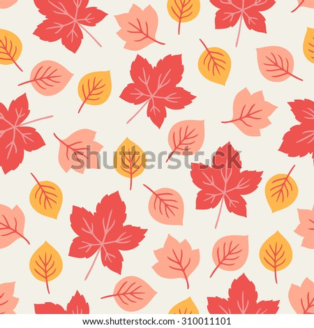 Seamless pattern with autumn maple leaves. Perfect for wallpapers, wrapping papers, textile, pattern fills, gift paper, autumn greeting cards