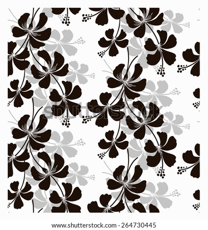 Seamless pattern with beautiful flower. Vector illustration. - stock vector