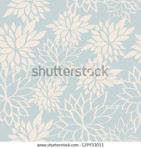 Seamless pattern with beautiful flowers. Vector illustration - stock vector