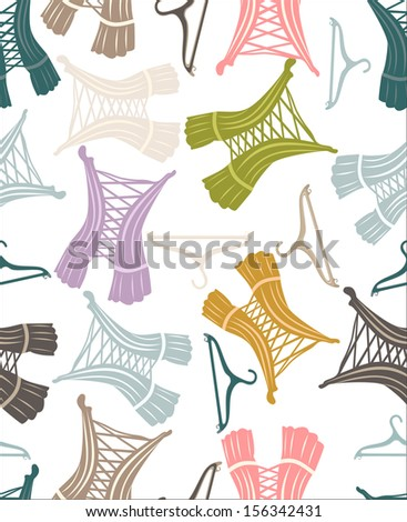 Seamless pattern with beautiful retro corsets - stock vector