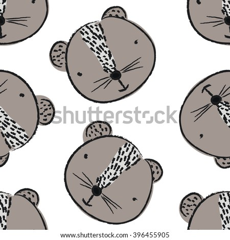 seamless pattern with beaver