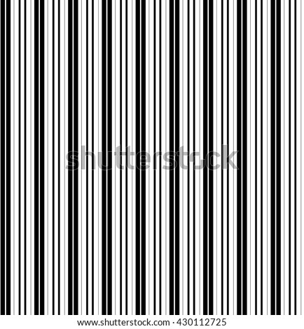 Seamless pattern with black and white horizontal lines. Vector, illustration