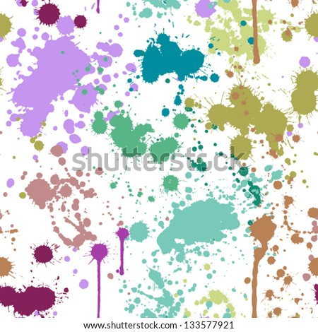 Seamless pattern with blots on a light background - stock vector