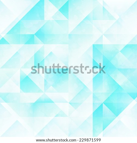 Seamless pattern with blue geometric shapes - stock vector