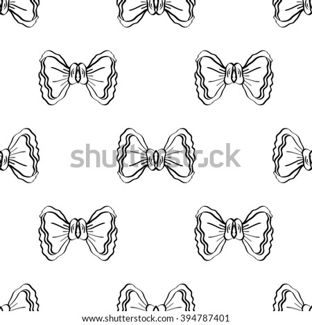 Seamless pattern with bows. Vector illustration.