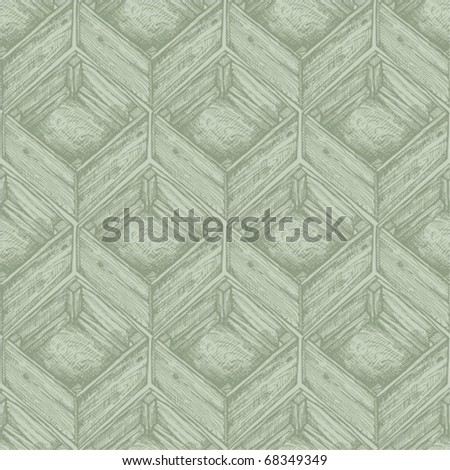 Seamless pattern with box - stock vector