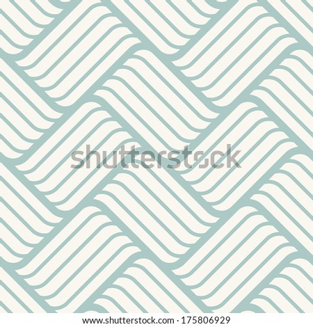 Seamless pattern with braids. Endless stylish texture. Ripple background - stock vector