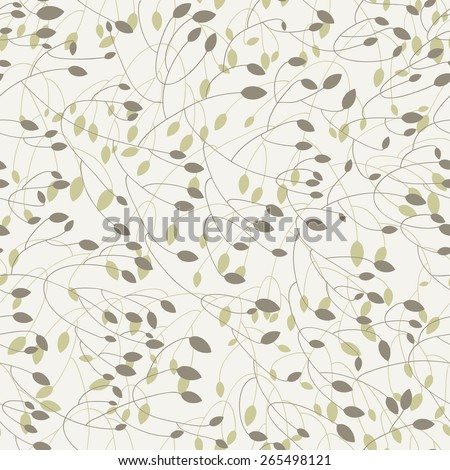 seamless pattern with branches - stock vector