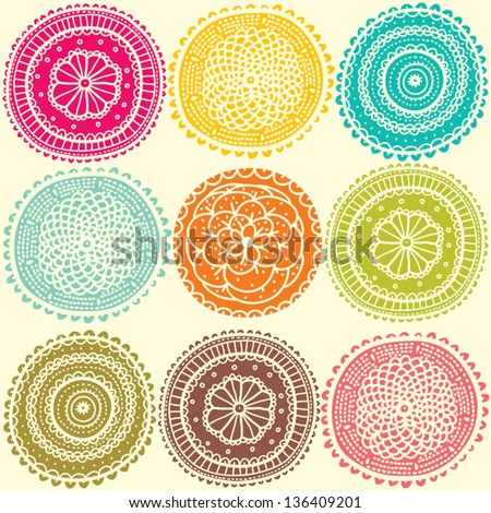 Seamless pattern with bright flowers. Seamless pattern can be used for wallpaper, pattern fills, web page background, surface textures. - stock vector