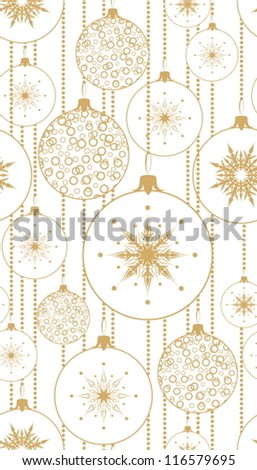 Seamless pattern with Christmas balls. - stock vector