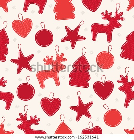 Seamless pattern with Christmas toys - stock vector
