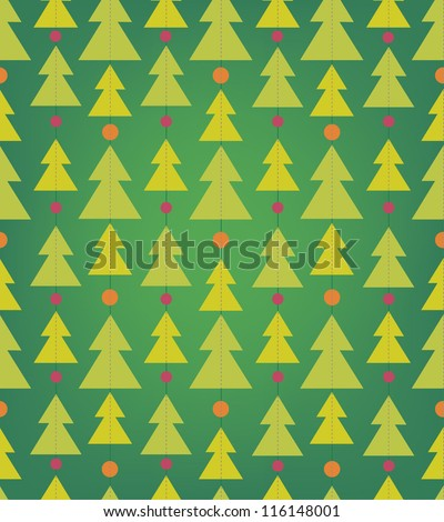Seamless pattern with christmas trees - stock vector