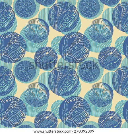 seamless pattern with circle decor. vector illustration. - stock vector