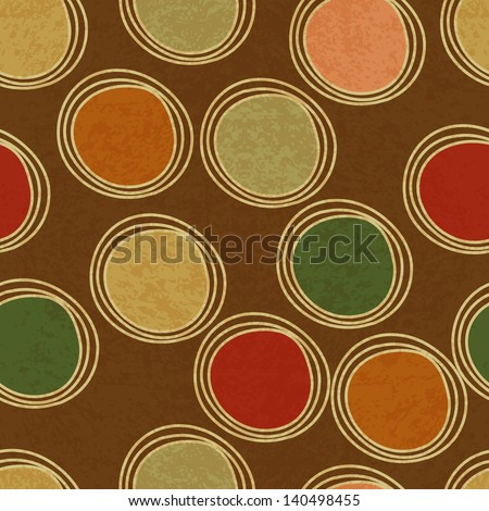 seamless pattern with circles - stock vector