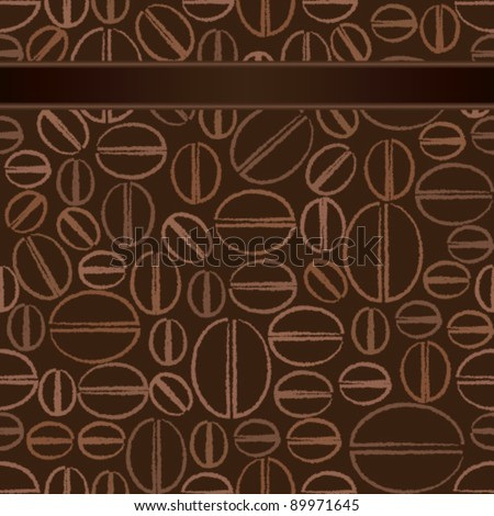Seamless pattern with coffee beans 1 - stock vector