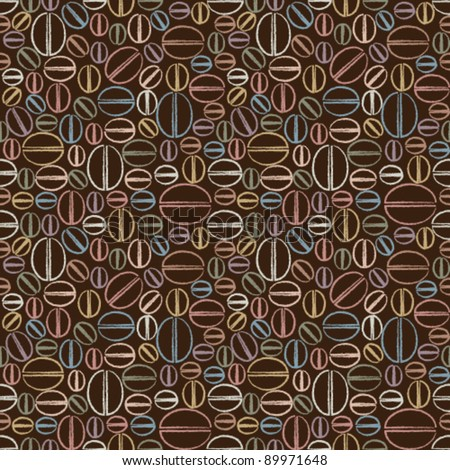 Seamless pattern with coffee beans 2 - stock vector