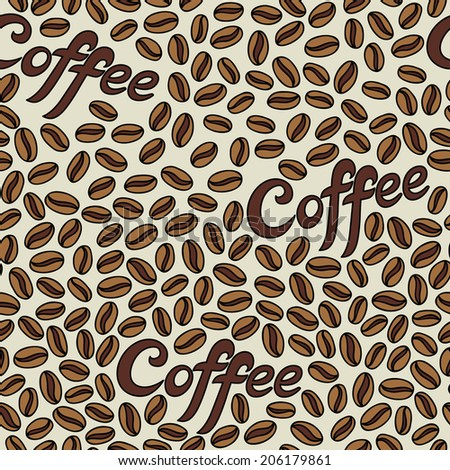 Coffee Beans Desktop Background coffee beans pattern coffee seamless background stock vector
