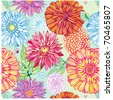seamless pattern with colorful flowers - stock vector