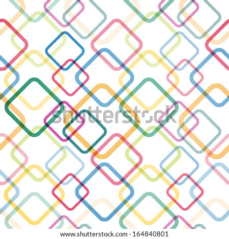 Seamless pattern with colorful squares. Vector illustration - stock vector