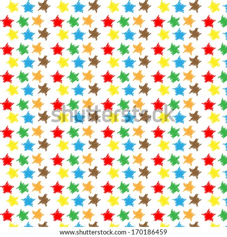 seamless pattern with colorful stars - stock vector