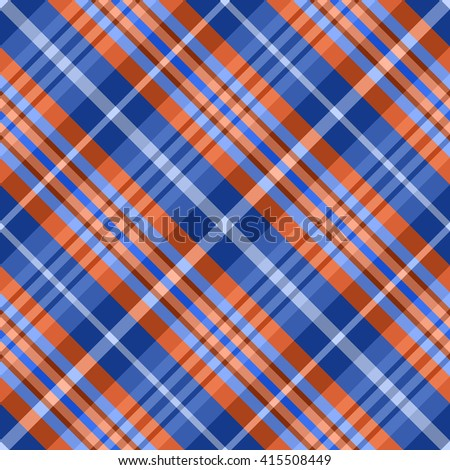 Seamless pattern with crossing diagonal Blue and red strips. Vector illustration. Design for textile, fabric, wrapping paper. - stock vector