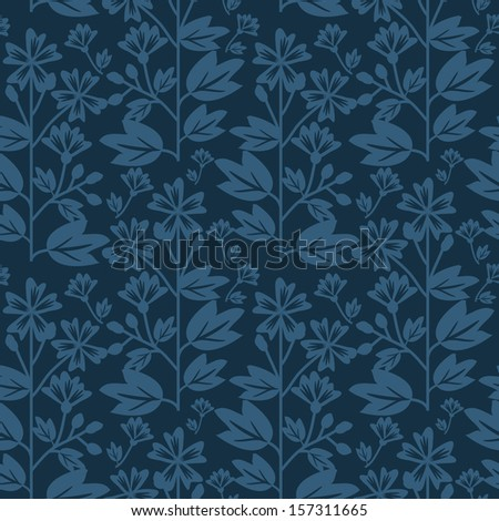 Seamless pattern with dark blue pattern - stock vector