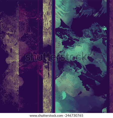 Seamless pattern with dark decorative elements for textile - stock vector