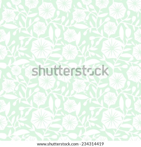 Seamless pattern with decorative bindweed