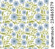 Seamless pattern with decorative flowers - stock