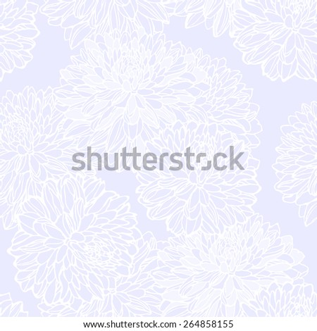 Seamless pattern with decorative flowers - stock vector