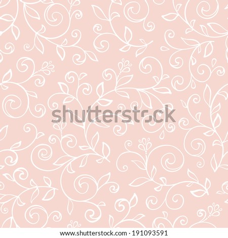 Seamless pattern with decorative flowers and lace texture. Vintage wallpaper. Vector illustration. Natural ornament. - stock vector