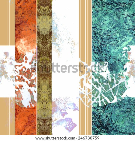 Seamless pattern with decorative grunge elements for textile - stock vector