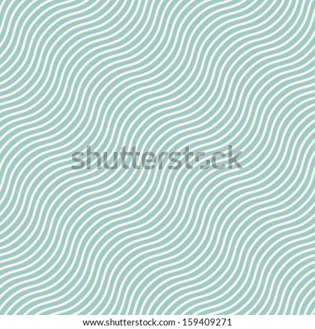Seamless pattern with diagonal wavy stripes. Repeating background with waves. Stylish print - stock vector